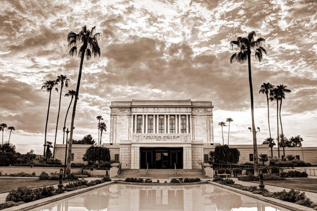 Mesa Arizona Temple Sepia
