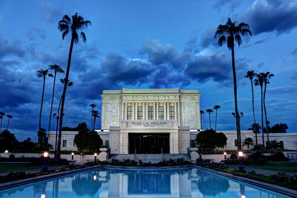 Mesa Arizona Temple Early Evening